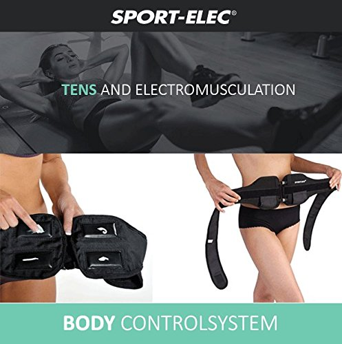 Abs and Body Workout Fitness Belt - FDA Cleared to Tone and Firm Abdominal Muscles - Electric Stimulation Muscle, Waist Trimmer - UNISEX (Electro Gel Included) by CC Venture (Image #2)'