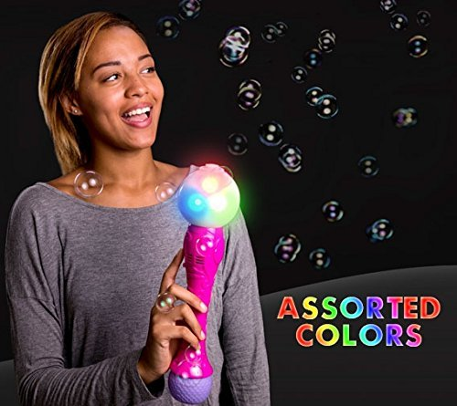 blinkee LED Bubble Magical Spinning Wand with Music by