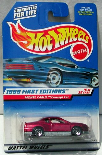 MONTE CARLO CONCEPT CAR * RED * 1999 FIRST EDITIONS SERIES #6 of 26 HOT WHEELS Basic Car 1:64 Scale Series * Collector #910 *