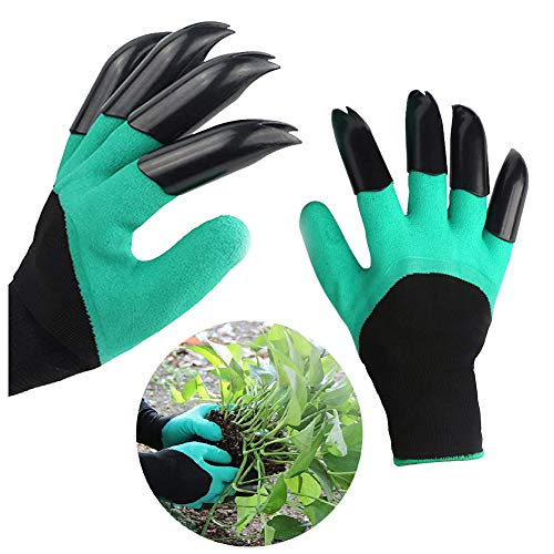 Garden Gloves with Claws, Green Waterproof Garden Gloves For Digging Planting, Best Gardening Gifts for Men and Women