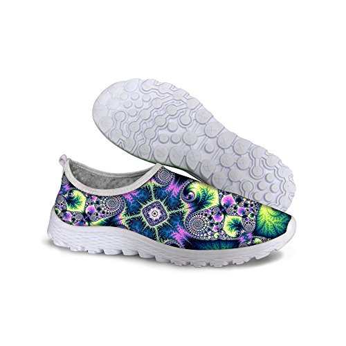 FOR U DESIGNS Stylish Lightweight Convenient Mesh Sneaker Running Shoes For Women Multi A1 9VZUeug