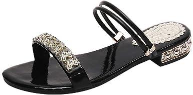 Women Flat Sandals Summer,SIN+MON Womens Simple Comfortable Slippers Casual Slides Sandals Beach Slip-on Female Sandals