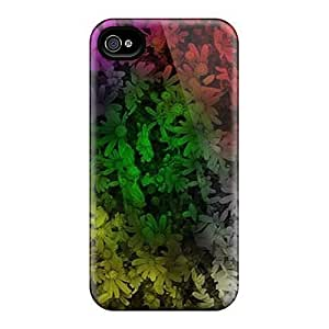 Durable Case For The Iphone 4/4s- Eco-friendly Retail Packaging(flowery Colours) by icecream design