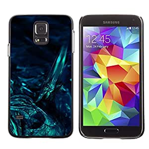 LECELL--Funda protectora / Cubierta / Piel For Samsung Galaxy S5 SM-G900 -- Underwater Dark Art Night Diving --