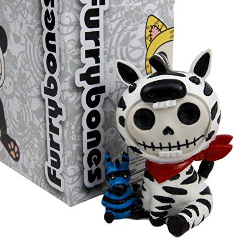 Atlantic Collectibles Furry Bones Safari Zebra Horse Costume Skeleton Monster Collectible Figurine (Costume Halloween Santa Muerte)