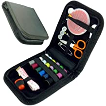 Travel Sewing Kit - Complete 32 Piece Sewing Kit in Zipped Carry Case by Rose Evans