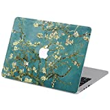 Customized Famous Painting Series Vincent Van Gogh Almond-tree Branch in Blossom Special Design Removable Vinyl Decal Top Front-cover Sticker Skin for Macbook Pro 13'' with Cd-rom Drive (Non-retina Display) Model A1278