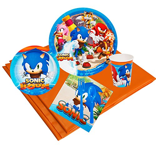 Sonic Boom Childrens Birthday Party Supplies - Tableware Party Pack (24)