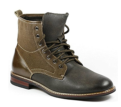 Ferro Aldo MFA-808562 Dark Gray Brown Men Lace up Military Combat Work Desert Ankle Boot (13)