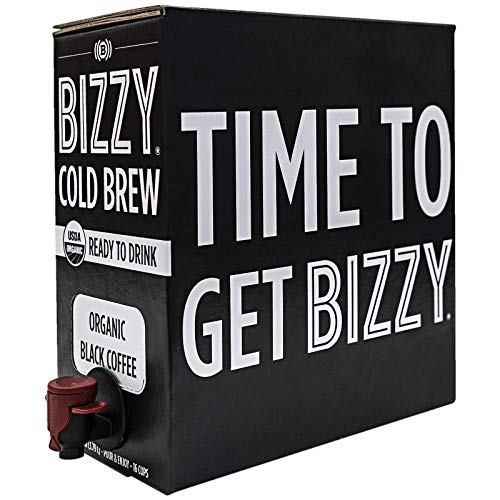 (Bizzy Organic Cold Brew Coffee - Ready-to-Drink - 128 fl oz Bag-in-box - Coffee on Tap )