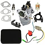 HIPA 0J25910112 Carburetor with Air Filter Tune up Kit for Generac GP6000E GP6500E GP7500 GP7500E GP8000E 420cc Portable Generator