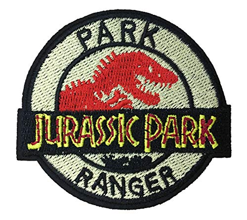 Blue Heron Jurassic Park Movie Ranger Logo Embroidered Iron/Sew-on Applique Patches ()