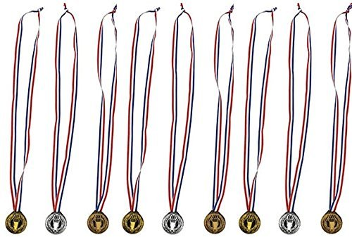 Torch award Medals (3 Dozen) - Bulk - Gold, silver, and bronze Olympic Style Award medals by happy deals