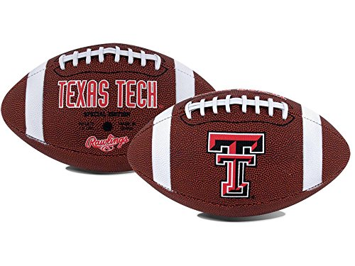 NCAA Game Time Full Size Football , Texas Tech Red Raiders, Brown, Full Size