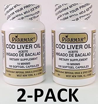 Aceite De Higado De Bacalao Capsules 100s Cod Liver Oil by Pharmark