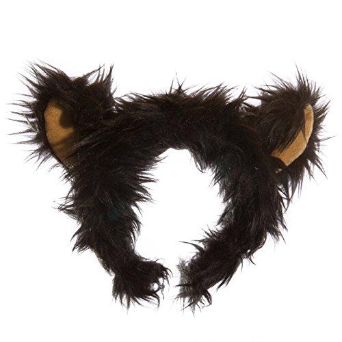 Wildlife Tree Plush Black Bear Ears Headband Accessory for Black Bear Costume, Cosplay or Forest Animal Costumes ()