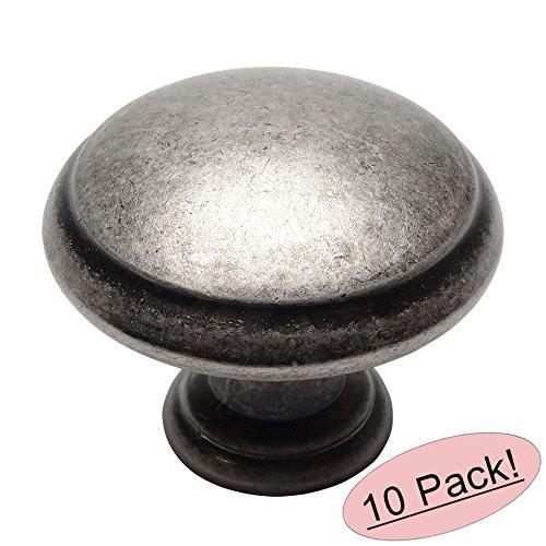 Cosmas 5422WN Weathered Nickel Cabinet Hardware Round Mushroom Knob - 10 Pack - Antique Nickel Mushroom Knobs Cabinet