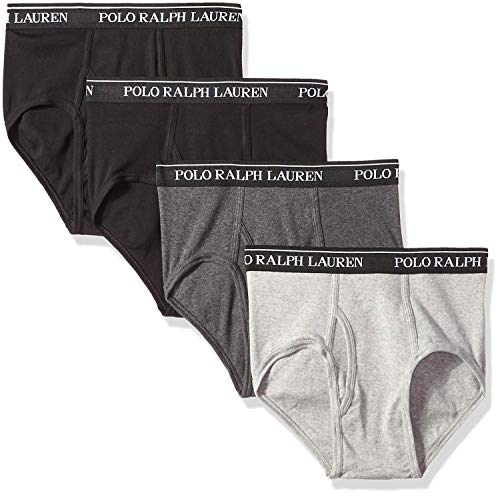 Polo Ralph Lauren Classic Mid-Rise Brief 4-Pack, S, Assorted Blue
