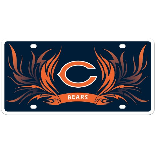 - NFL Chicago Bears Styrene Plate - Flame Style