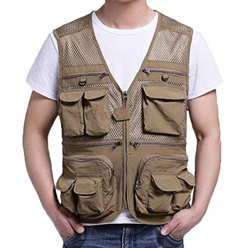 Seasons Plein Haidean Camping Moderne Gilet Multi Brown2 En Air Casual Four poche Loisirs Photographie Pêche 5rtqxr