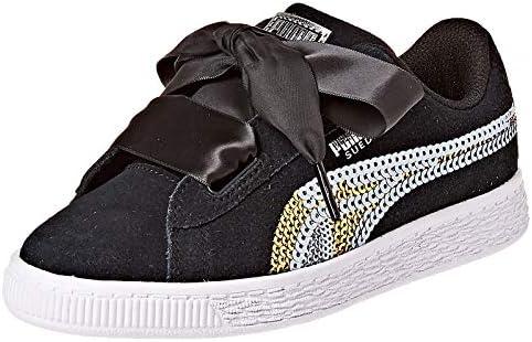 Puma Suede Heart Trailblazer Sqn Ps Black Shoes For Kids