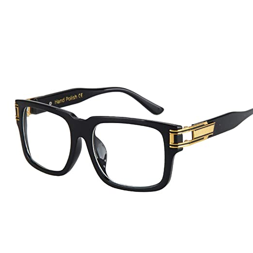 937a4aa246 Rectangle Eyeglasses Men Accessories Square Glasses Frame Women Gift Items  2019 (black)