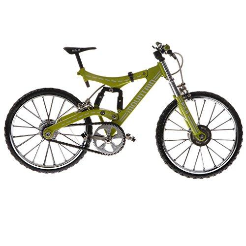(Homyl 1/10 Scale Metal Bike Model Mountain Bicycle Cool Boy Toy Creative Gift, Green)