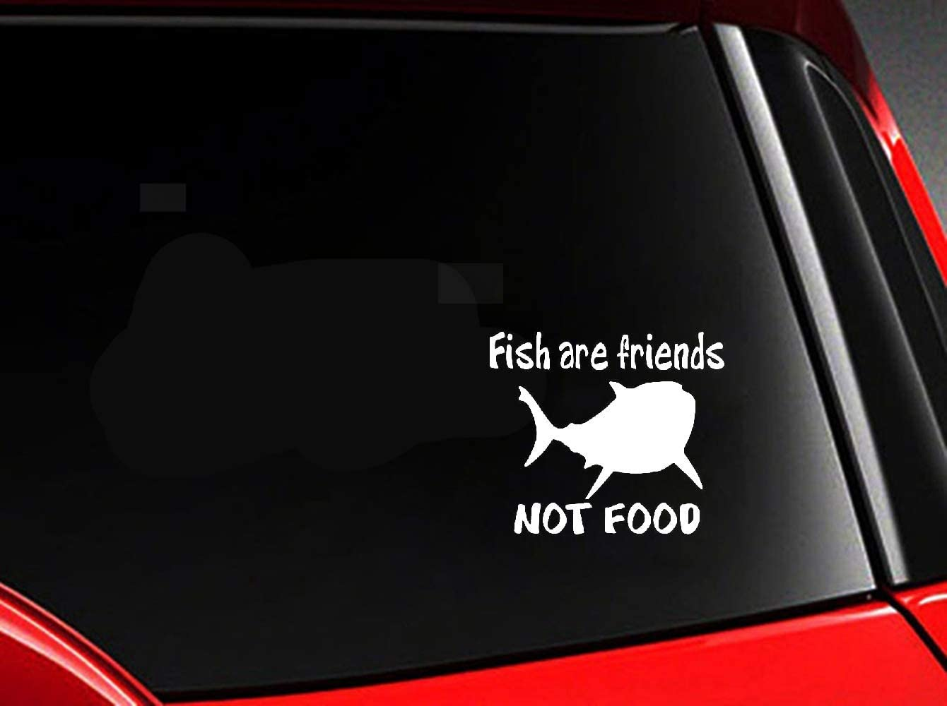 Mukia 14.9Cmx12.9Cm Decal Car Sticker Fish are Friends Not Food Fish Decal Decor for Car Laptop Window Sticker