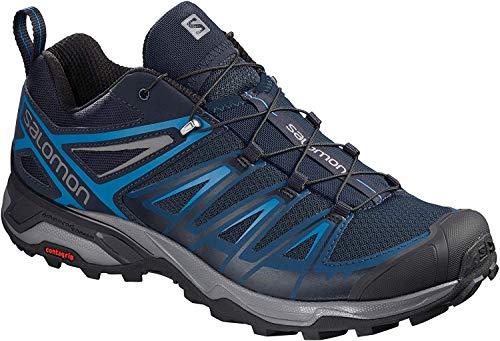 Salomon Men's X Ultra 3 Hiking Shoes, Poseidon/Indigo Bunting/Quiet Shade, 11