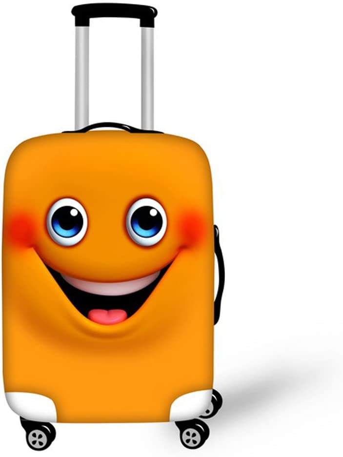 FOR U DESIGNS 26-30 Inch Large Cute Smile Face Emoji Design Soft Suitcase Cover for Woman