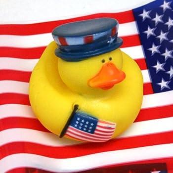 Amazon Com Fun Express 4th Of July Patriotic Rubber Duck