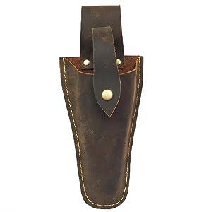 Genuine Leather pliers holster Electrician Scissors Sheath shears Holsters, Welding Pliers Belt Holder Gardening Case Pouch Bag for Pliers, Pruning Shears, Scissors or Garden Pruning Knife JDB01-1
