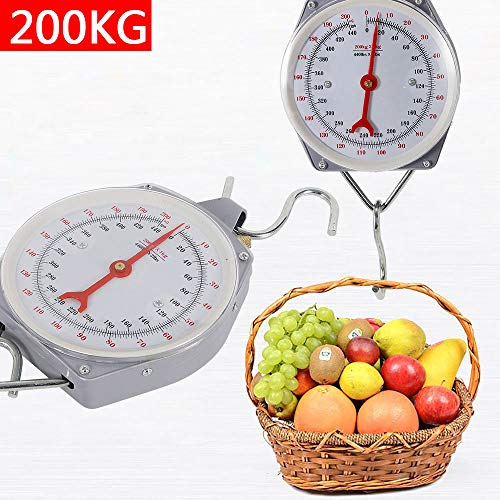 DY19BRIGHT New 200kg Heavy Duty Hanging Weighing Scales with Hook Fishing 440lbs USA Stock