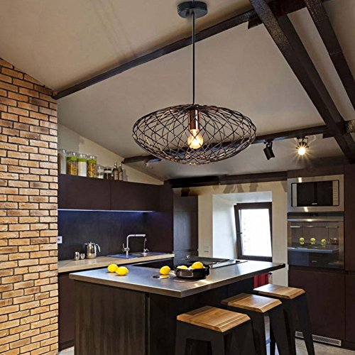 Suspension luminaire mstar vintage industrielle suspension luminaire cuivre fini e27 cage - Plafonnier pour salle a manger ...