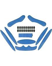 Helm Foam Pads Magic Stick 1 Set anti-collision Voering Sponge Bescherming met Viscose Universele Helmen Vervanging Pads voor Fiets Elektrische Motorfiets Blauw