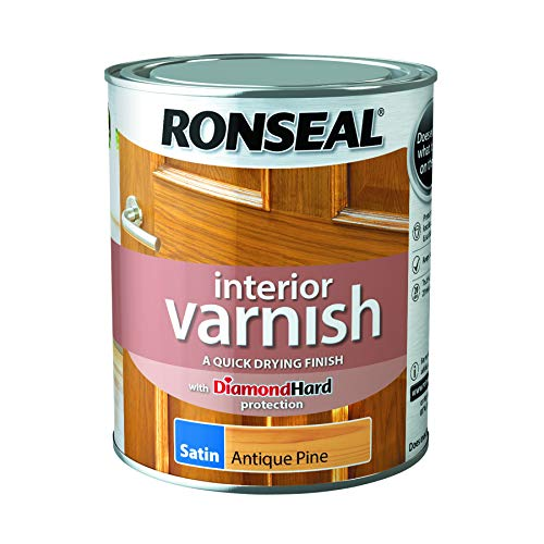 - Ronseal Interior Varnish Quick Dry Satin Antique Pine 750ml