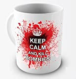Funny Mug - Keep Calm And Kill Zombies - 11 OZ Coffee Mugs - Funny Inspirational and sarcasm - By