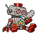 Hat Shark Pot Smoking Pals Toy Robot w/Swirly
