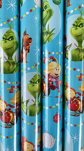 Dr. Seuss THE GRINCH Wrapping Paper - 70 sq ft Roll -