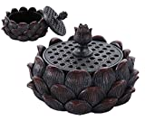 Ebros Meditation Of Buddha Lotus Flower Blossom Multiple Incense Sticks Holder Burner Figurine