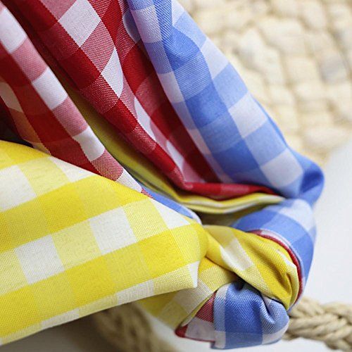Beach with Fancylande Woven Handbag Women Travel Bag Bag Silk Color Shopping Straw Scarf Crossbody gqwBFxwU6