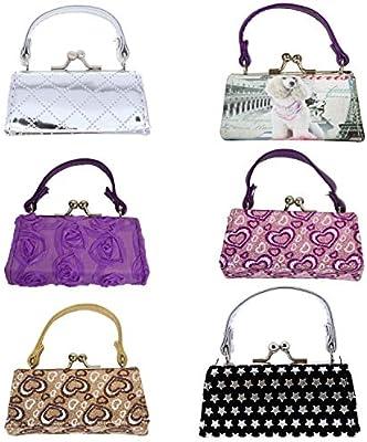 6 Lipstick Cases with Handles Mini Coin Purse Mahjong Trinket Pouch Purple Mix Li/'Shay 6LSLCQ4
