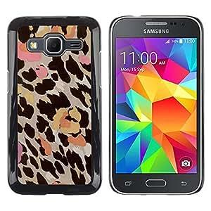 Be Good Phone Accessory // Dura Cáscara cubierta Protectora Caso Carcasa Funda de Protección para Samsung Galaxy Core Prime SM-G360 // leopard pattern pink beige brown yellow