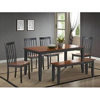 Amazon Com Boraam 21035 Bloomington 6 Piece Dining Room
