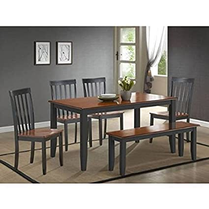 Exceptionnel Boraam 21035 Bloomington 6 Piece Dining Room Set, Black/Cherry