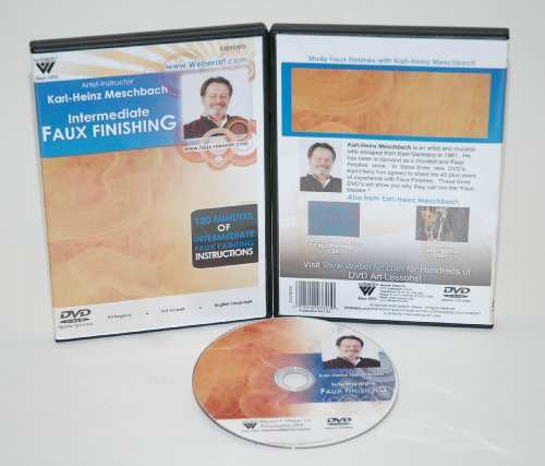 Weber Meschbach Dvd Intermediate Studies of Faux Finishing Oil Painting 1 Hour by Weber