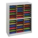 7121GR Value Sorter Literature Organizer, 36 Compartment, Gray NEW