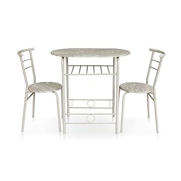 Amazon.de: iKayaa 3er Set Essgruppe Tischgruppe Küchentisch mit ...
