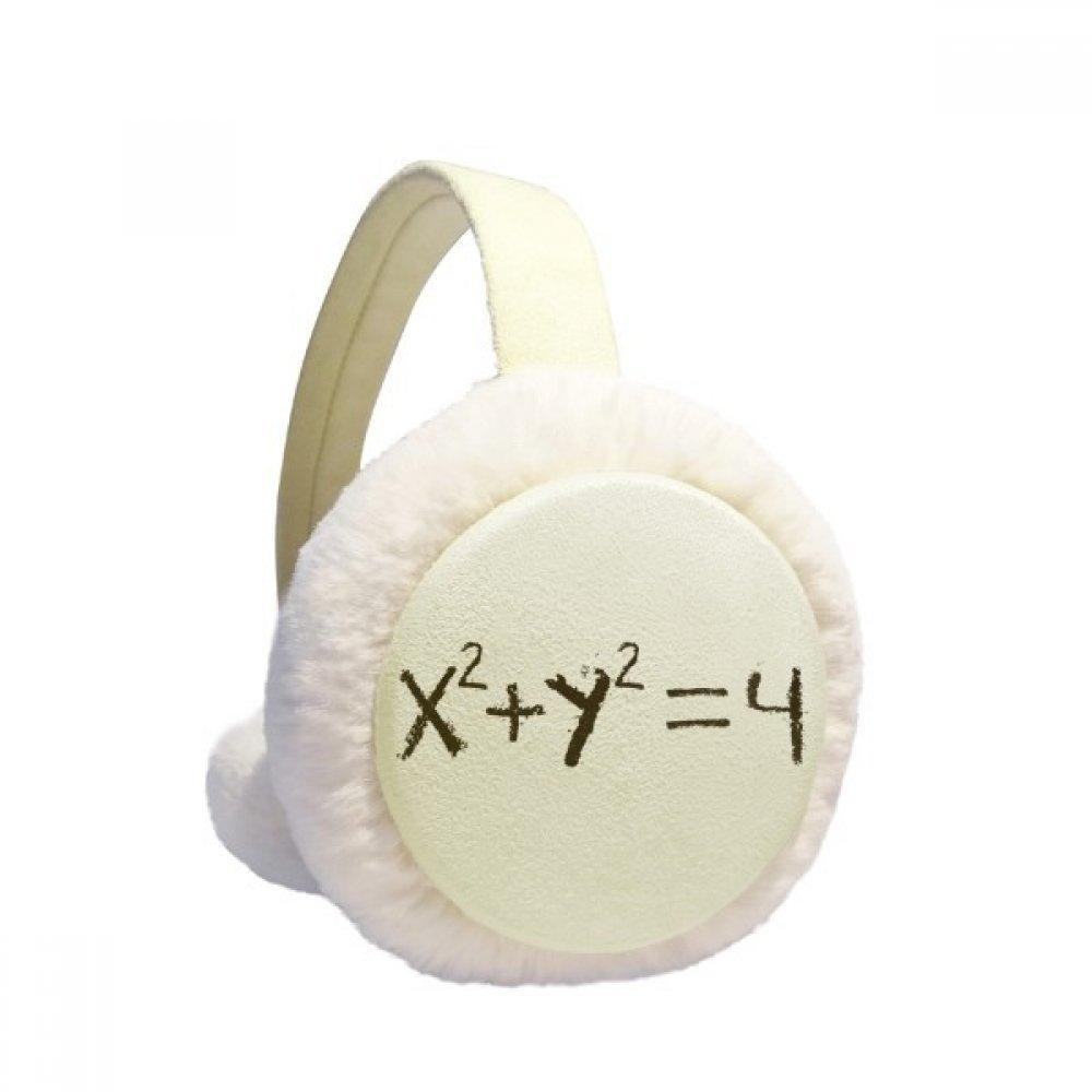 Math Kowledge Equation of Circle Winter Earmuffs Ear Warmers Faux Fur Foldable Plush Outdoor Gift