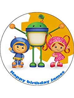 """TEAM UMIZOOMI  7.5/"""" ROUND ICING CAKE TOPPER"""